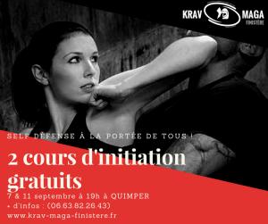 2 cours d'initiation gratuits de Krav Maga à Quimper