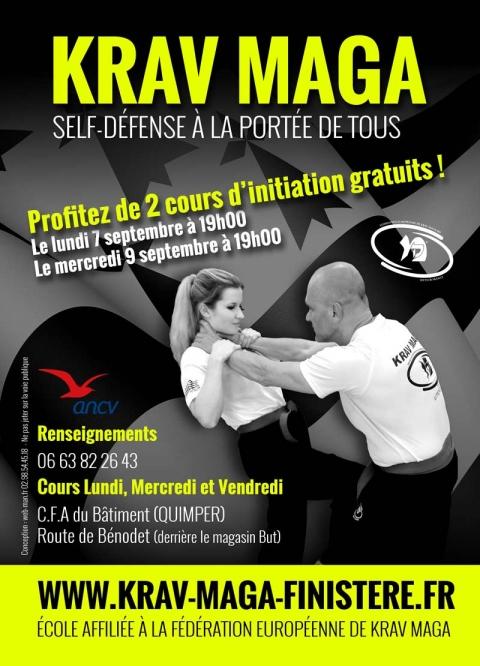 Cours d'initiation gratuits au Krav Maga - Self défense - à Quimper