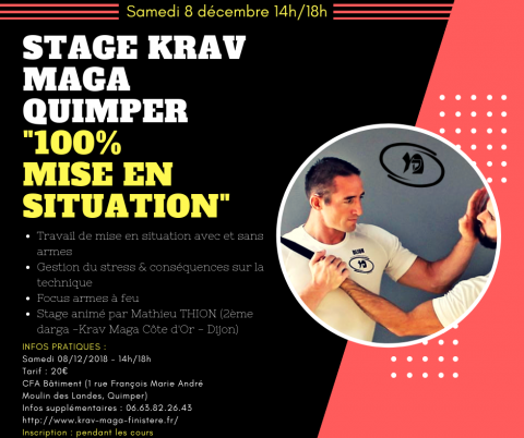 Stage Krav Maga 100% Mise en situation