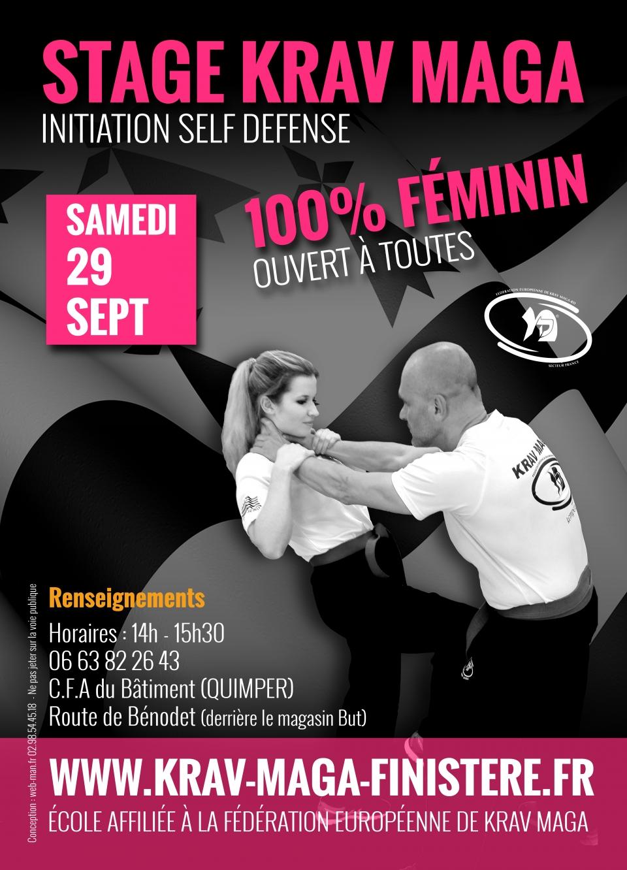 Stage d'initiation Gratuit 100% Féminin de Krav Maga à Quimper