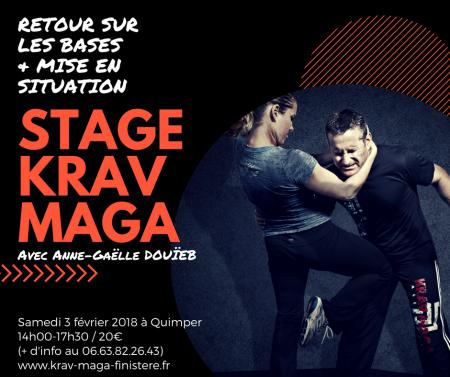 Stage de Krav Maga à Quimper avec Anne-Gaëlle DOUÏEB